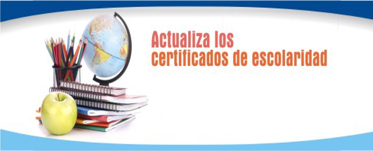 Actualización de Certificados de Escolaridad
