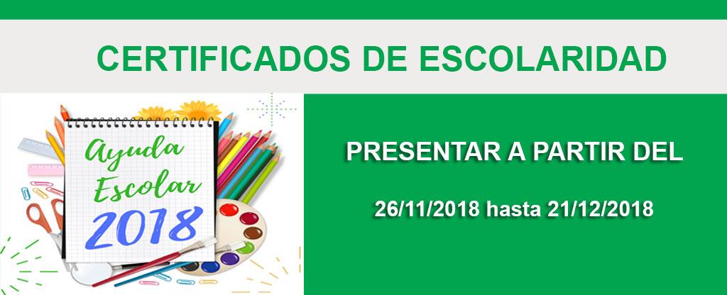 Presentación de Certificados de Escolaridad  2018