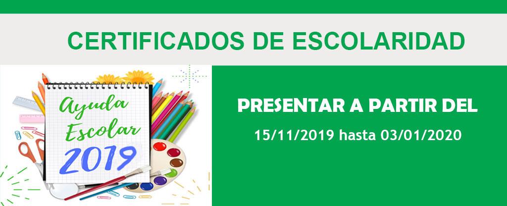 Presentación de Certificados de Escolaridad  2019